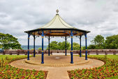 Ornamental English bandstand — Stock Photo