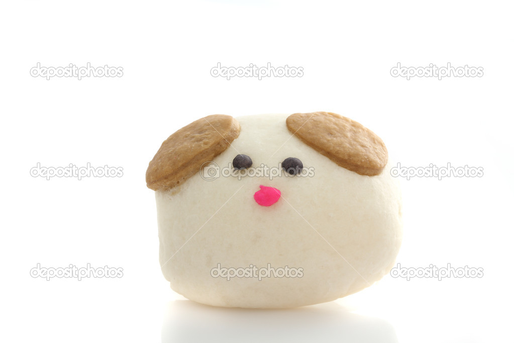 Dog Steamed Dumpling in white background  Stock Photo #10809225