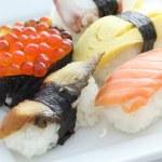 Sushi set in white background — Stock Photo