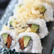 California rolls with salmon and avocado — Stock Photo