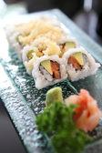 California rolls with salmon and avocado — Stock Photo