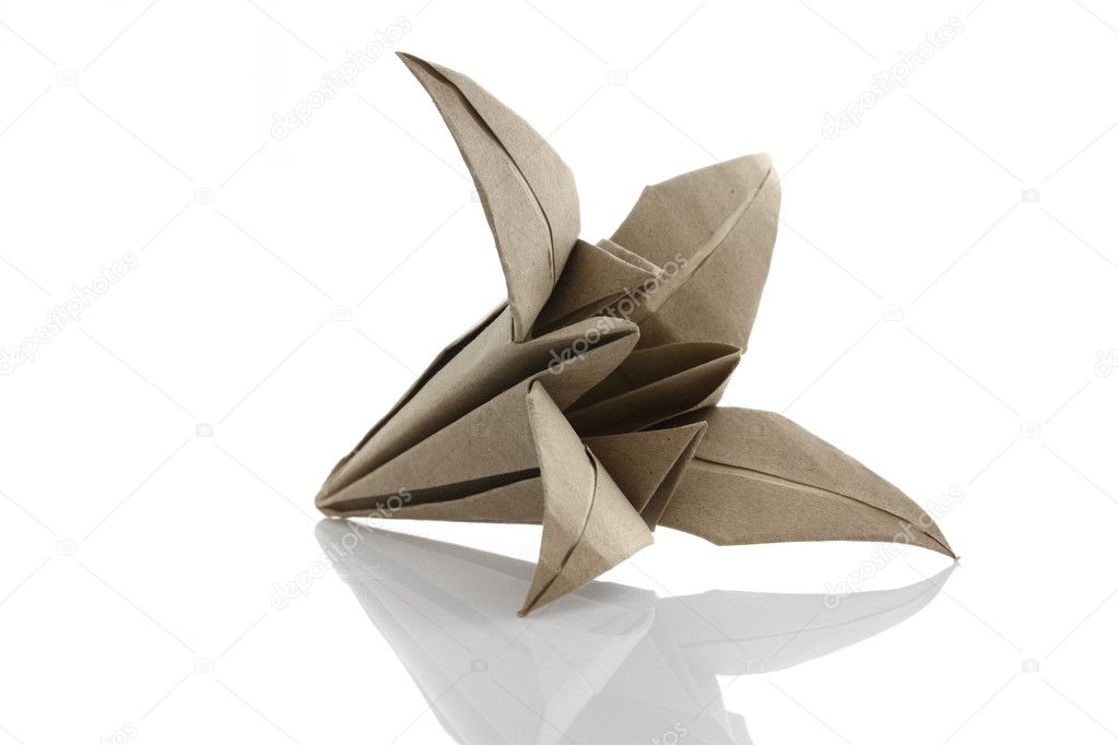 Origami flower by recycle papercraft — Stock Photo #12149231