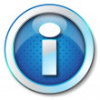 Info web icon - Stock Photo