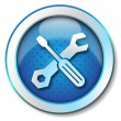 Stock fotografie: Tool repair web icon