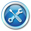 Stockfoto: Tool repair web icon
