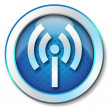 Stock Photo: Wireless WLAN icon