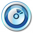 CD DVD icon - Stock Photo