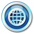 World web icon — Stock Photo