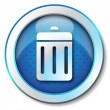 Delete icon - Stock Photo