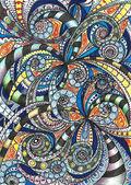 Zeichnung floral abstrakt — Stockfoto
