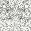 Drawing floral abstract background — Stock Photo