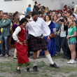 Scotish dance - 图库照片