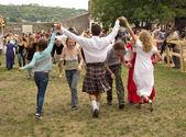 Medieval dance — Stock Photo