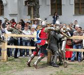 Knight battle — Stock Photo