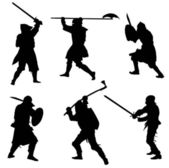 Ancient warriors — Stock Vector