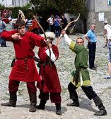 Medieval archers — Stock Photo