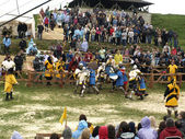 Bataille de chevaliers — Photo