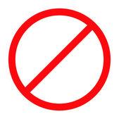 Forbidden sign — Stock Vector