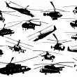 Stock Vector: Helicopter silhouettes