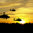Helicopter silhouettes — Stock Photo #11746142