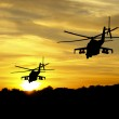 Helicopter silhouettes — Stock Photo #11746203