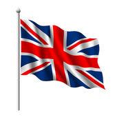 Vlag van het verenigd koninkrijk — Stockvector