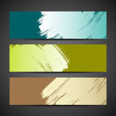 Collections Paint brush banner colorful background — Cтоковый вектор
