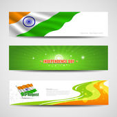 Happy Independence Day India banner design — Stock Vector