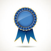 Blue and gold ribbons award — Stockvector