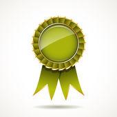 Green and gold ribbon award — Stock Vector