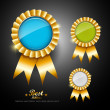 Stock Vector: Collections ribbons award