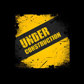 Under construction texture background — Stock Vector