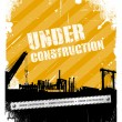 Under construction industrial texture background — Stock Vector #11695849