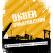 Under construction industrial texture background - Stock Vector