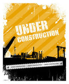 Under construction industrial texture background — Stock Vector