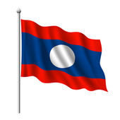 Flag of laos — Stock Vector
