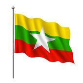 Flag of Myanmar — Stock Vector