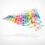 Disegno del modello di sfondo colorato mosaico — Vettoriale Stock