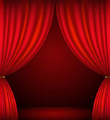 Red theater curtain background — Stock Vector