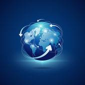 современный глобус соединения сети фон — Cтоковый вектор