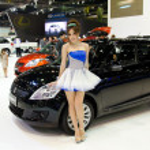 Suzuki Swift car with unidentified model — Stock Photo #10736714
