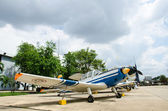 Aircraft on display at The Royal Thai Air Force Museum, Bangkok, — Stock Photo