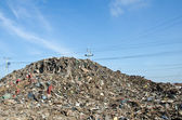 Rubbish dump of landfill garbage — Stock Photo