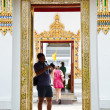 Tourist image of Thai art through the camera. — Stock Photo