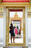 Toeristische foto van thaise kunst via de camera. — Stockfoto