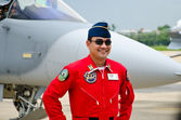 Pilot of the Indonesian Air Force. — Stock Photo