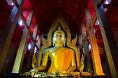 Büyük altın buddha heykeli — Stok fotoğraf