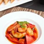 Thai Sweet and Sour Shrimp — Stock Photo