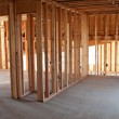 New Construction Framing Interior - Stock Photo