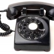 Black Vintage Phone - Stock Photo